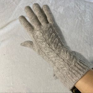 Christian Siriano Cashmere Gloves Grey Cable OS